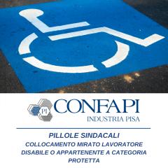 Pillole Sindacali - Collocamento mirato lavoratore con disabilità
