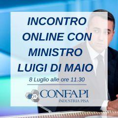 Incontro online con Ministro Di Maio - 8 luglio ore 11.30