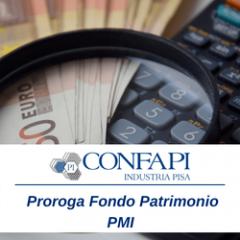 FONDO PATRIMONIO PMI // PROROGA DEI TERMINI DI SOTTOSCRIZIONE DEI TITOLI
