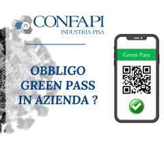 PILLOLE INFORMATIVE - OBBLIGO DI GREEN PASS IN AZIENDA?