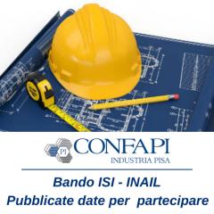 BANDO ISI INAIL - Pubblicate le date per la partecipazione