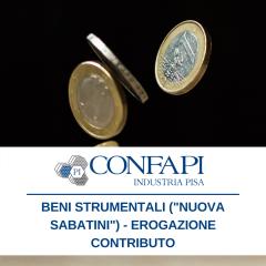 Erogazione contributo - Beni strumentali