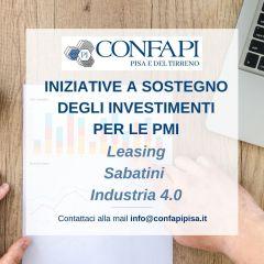 Iniziative a sostegno degli investimenti per le PMI  Leasing, sabatini e industria 4.0
