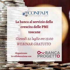 WEBINAR GRATUITO - LA BANCA AL SERVIZIO DELLE PMI TOSCANE